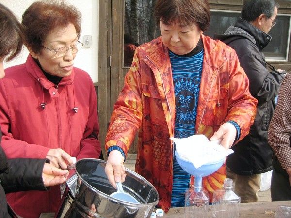 白樺樹液ツアー 2010年4月17日〜18日 �
